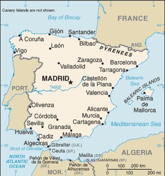 spanyolország térkép Spanyolország térképe   Travelon.hu